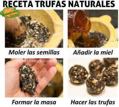 receta paso a paso de trufas naturales con sesamo negro nueces y miel