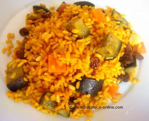 arroz curry pilaf