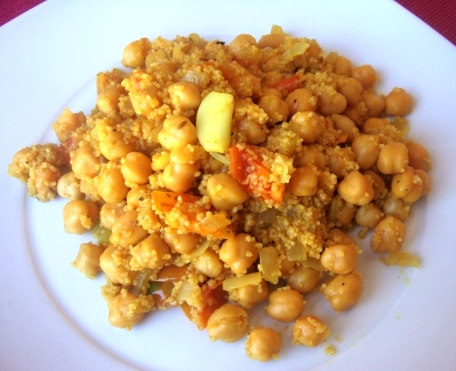 Chickpeas with couscous
