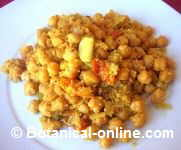 receta garbanzos curry