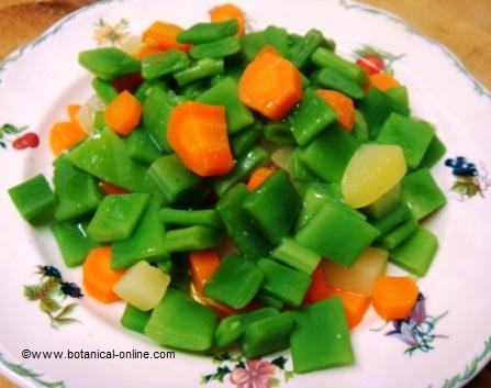 judia tierna con patatas y zanahoria