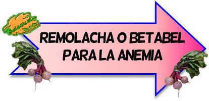 remolacha anemia