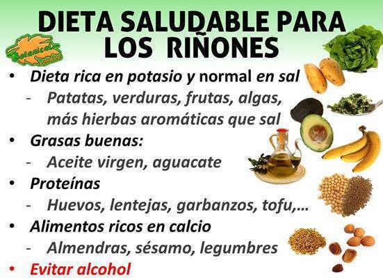 dieta para los riñones alimentos buenos recomendados