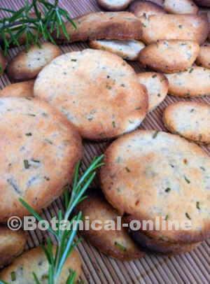 receta facil galletas de hierbas romero y limon