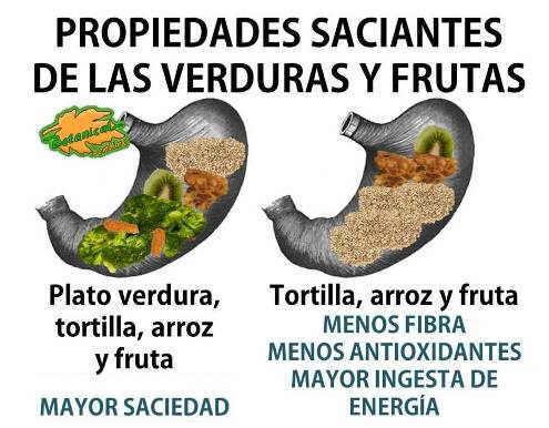 saciedad frutas verduras