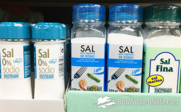 tipos de sal sin sodio etiqueta