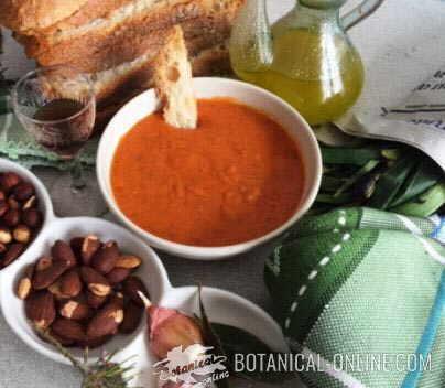 salsa romesco calçots ingredientes frutos secos pan