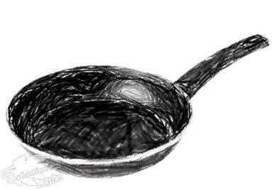 dibujo sarten de teflon