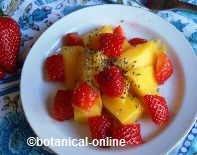 Ensalada de frutas con chía