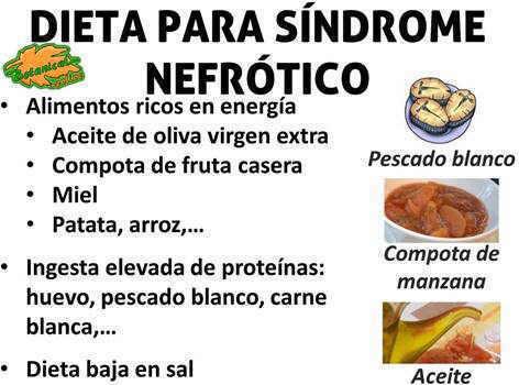 dietoterapia dieta sindrome nefrotico