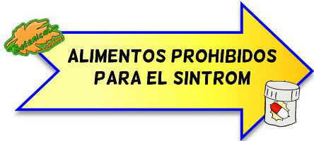 alimentos prohibidos sintrom