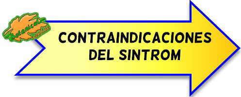 contraindicaciones sintrom warfarina