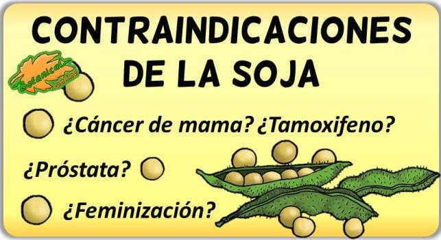 contraindicaciones de la soja