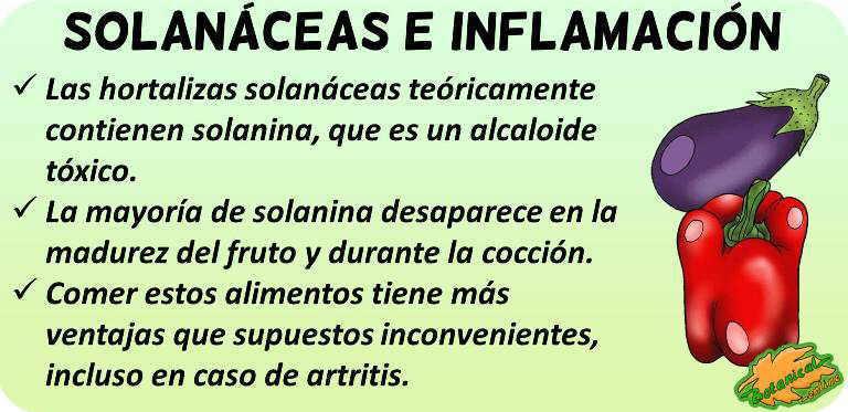 solanaceas inflamacion artritis
