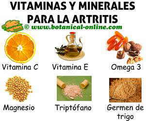 suplementos para la artritis de vitaminas y minerales