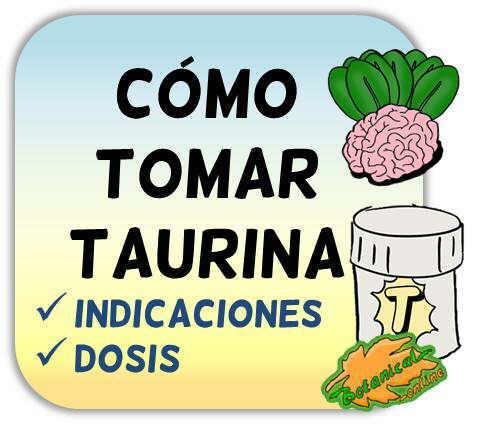 como tomar suplementos de taurina