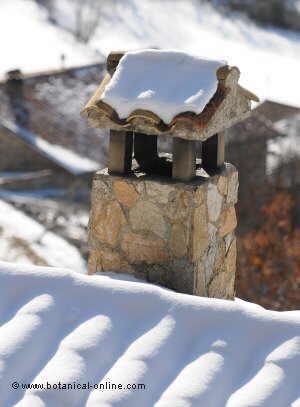 tejado nevado