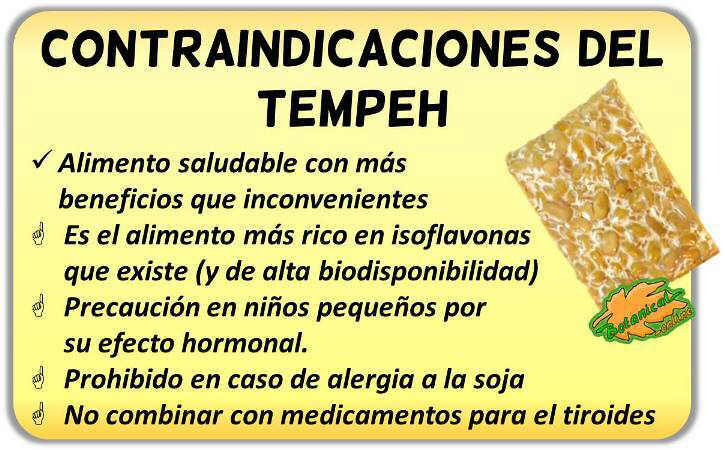 contraindicaciones del tempeh