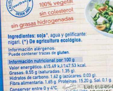 etiqueta tofu ecologico
