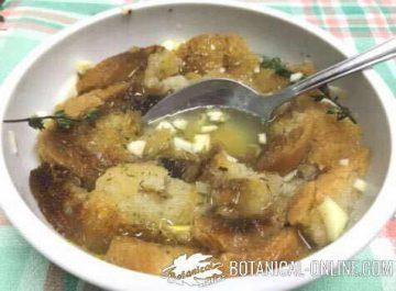 sopa de tomillo receta pan