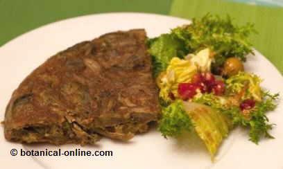 tortilla alcachofa