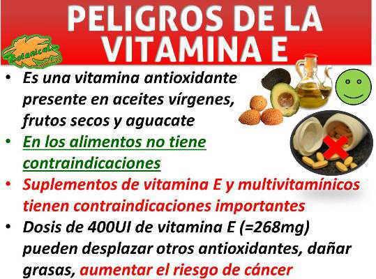 toxicidad vitamina e peligros suplementos multivitaminicos