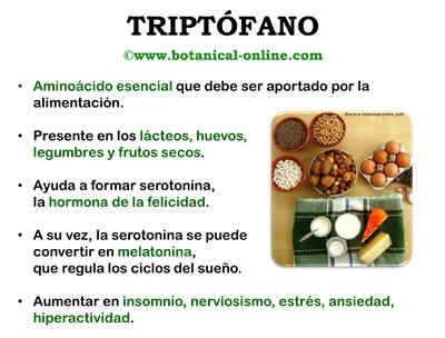 Propiedades triptófano