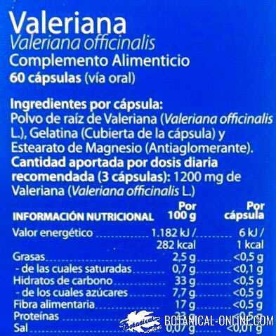 valeriana planta medicinal flores