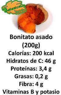 valor nutricional boniato