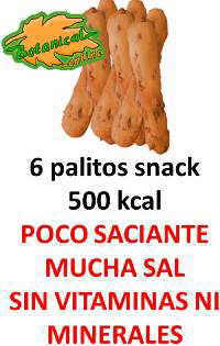 valor nutricional snacks salados como palitos