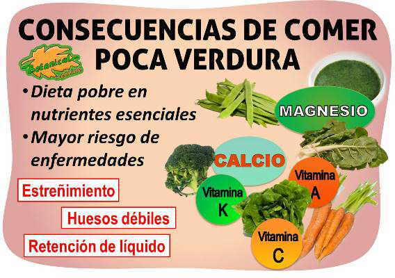 Consecuencias de no comer verduras