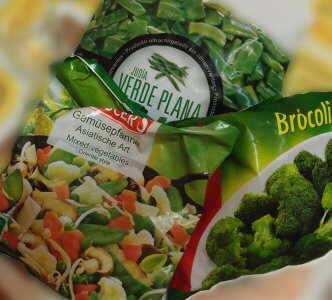 Foto de verduras congeladas