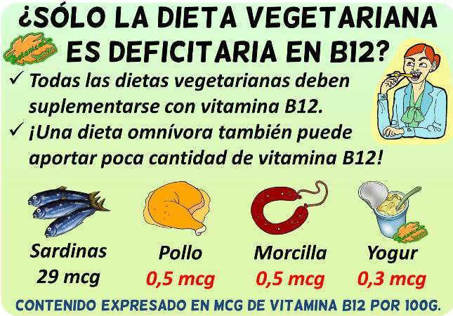 dieta rica vitamina b12 cantidad dieta vegetariana omnivora