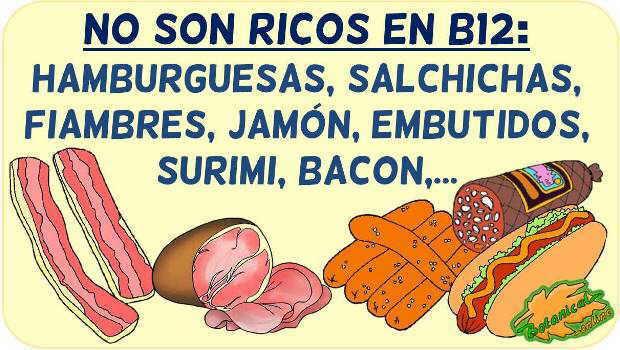 vitamina b12 embutidos carnes