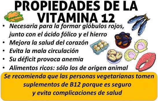 propiedades y beneficios de la vitamina b12 o cobalamina