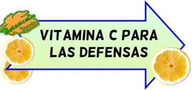 vitamina c para las defensas