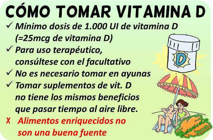 vitamina d como tomar suplementos