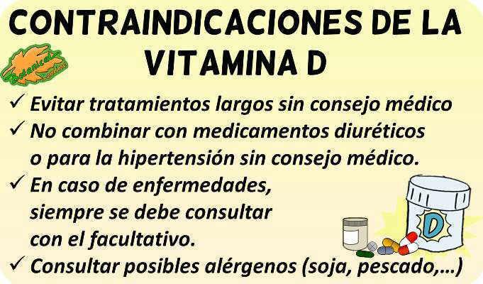 vitamina d contraindicaciones