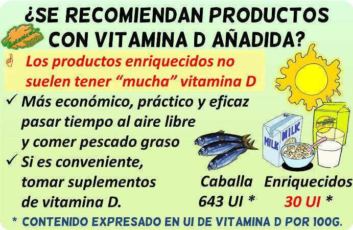 vitamina d cantidad productos enriquecidos ricos