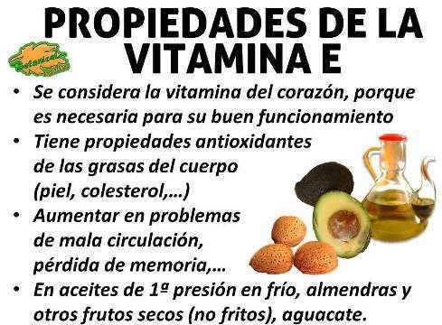 Propiedades de la vitamina E