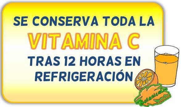 mito contenido vitamina c jugo zumo naranja pierde