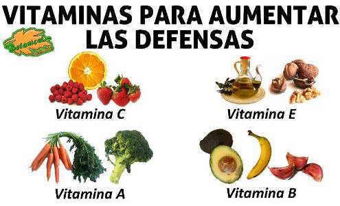 Vitaminas para reforzar las defensas - Alimentos para subir las defensas ...
