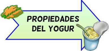 propiedades del yogur