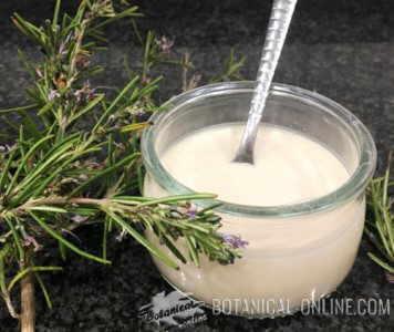 yogur de sabores de limón y romero casero