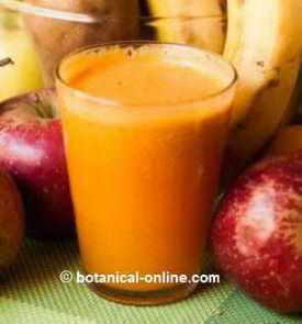Liquefied apple and carrot