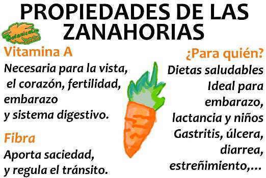 propiedades de las zanahorias y sus beneficios, vitaminas