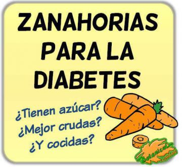 zanahorias para la diabetes azucar alto beneficios propiedades