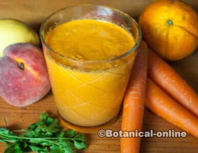 jugo zanahorias